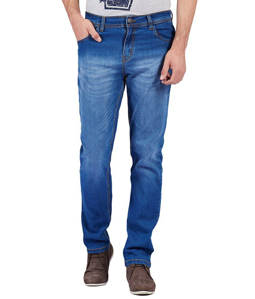 Yepme Blue Smith Regular Fit Denims for Men