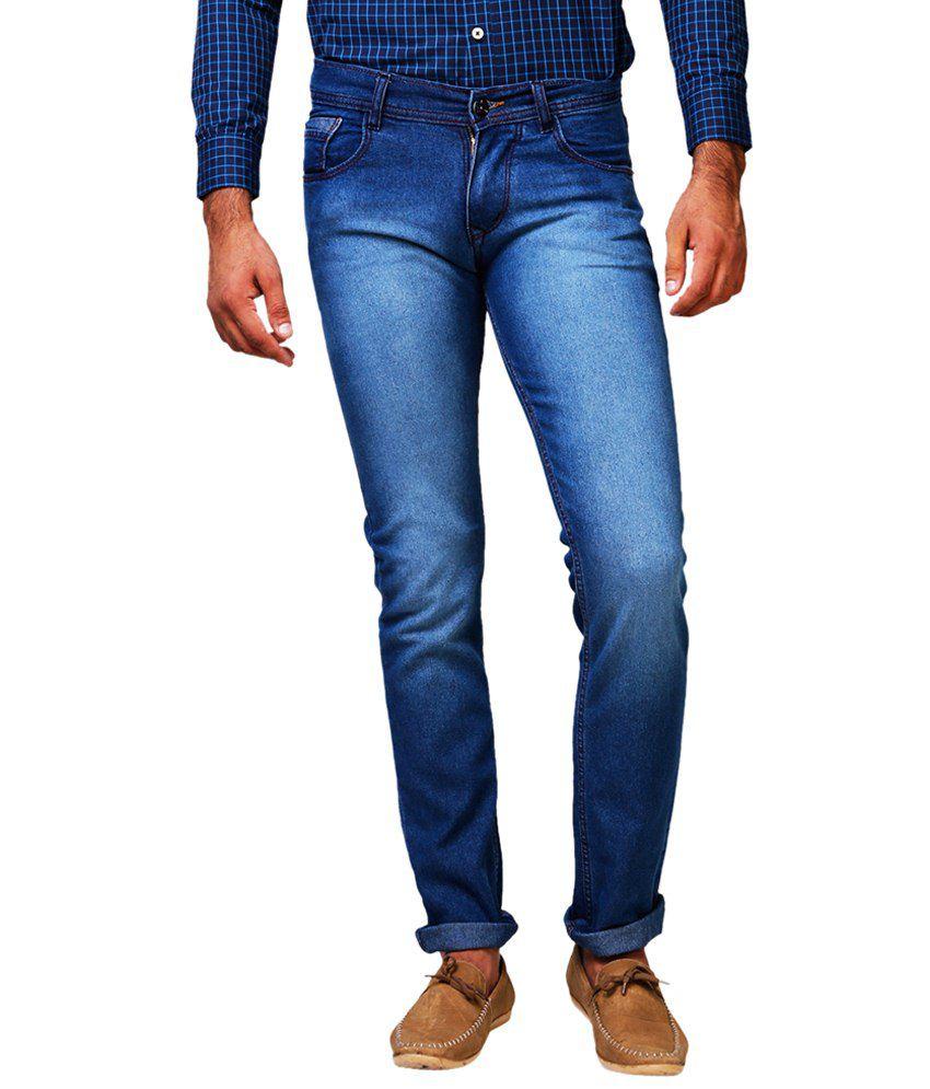 Yepme Stylish Blue Hagen Slim Fit Denims for Men