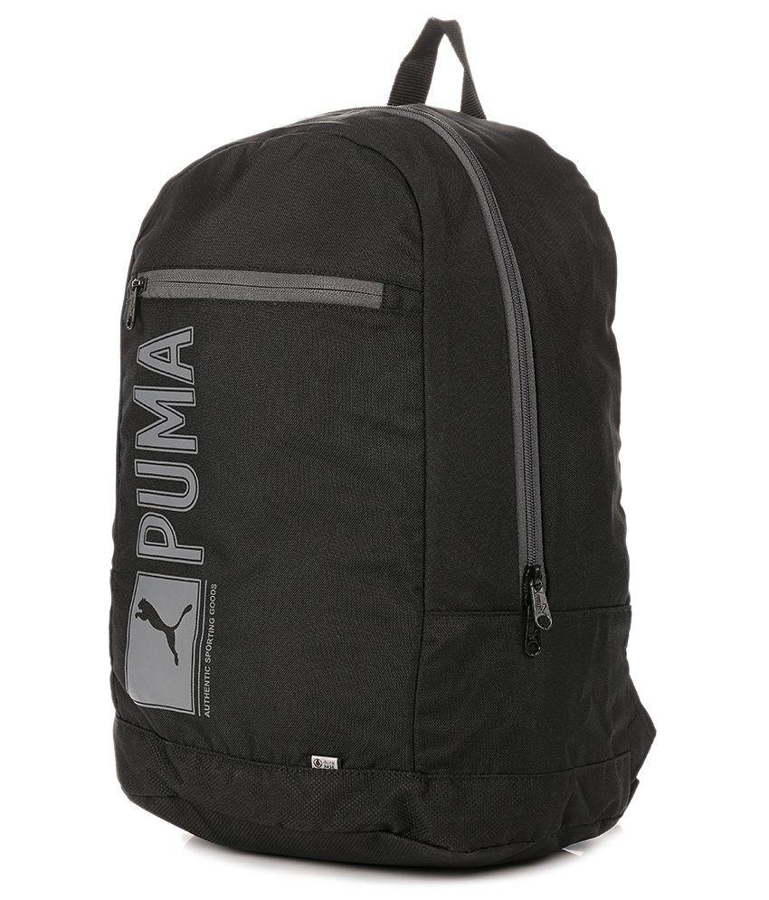 Puma Branded Backpack Laptop Bags College Bags Pioneer Black - Buy ... 3989a7fdb6ae6