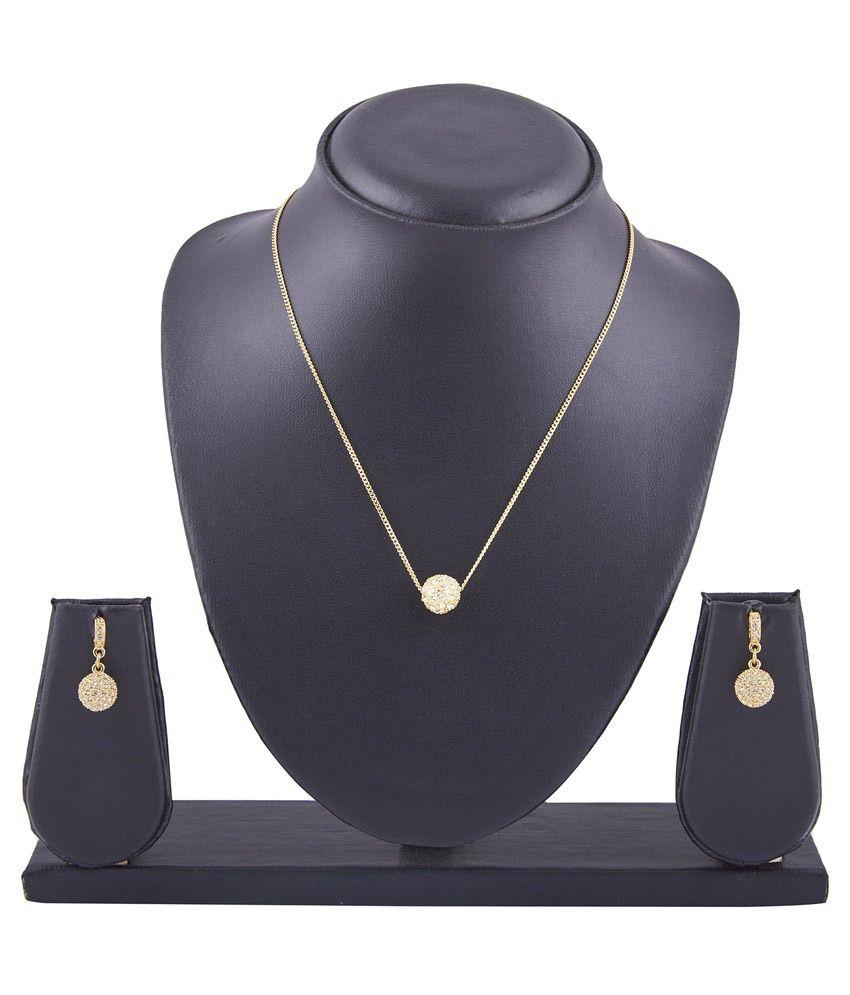 Trisha Golden Brass Necklace Set