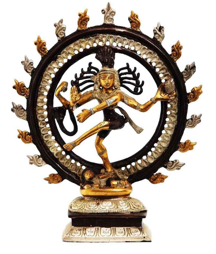 Ark Creation Yellow Brass Natraj Idol
