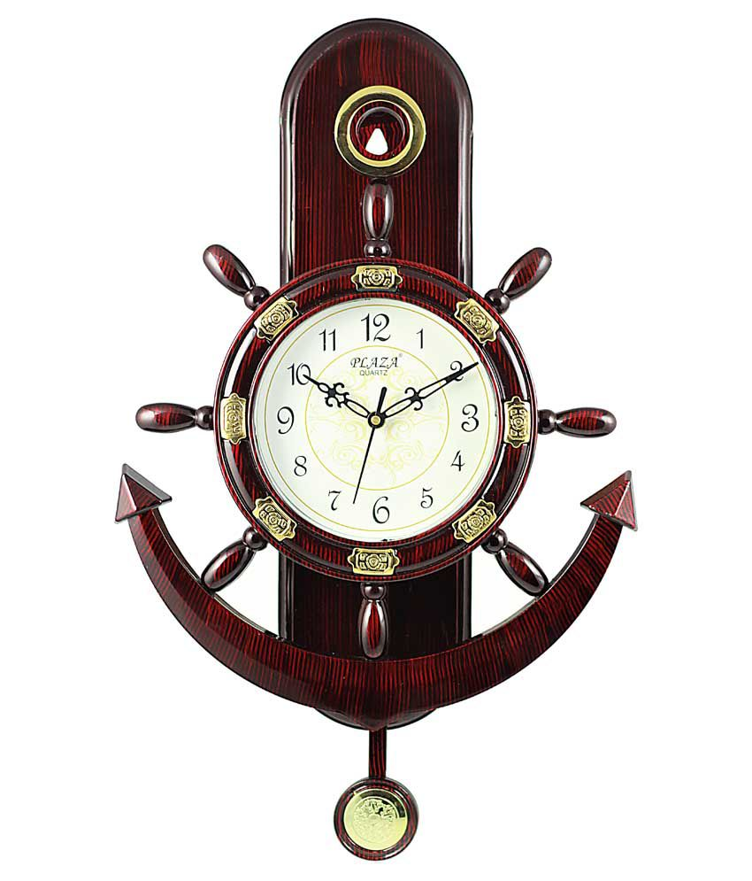 Plaza Anchor And Steering Design Pendulum Wall Clock