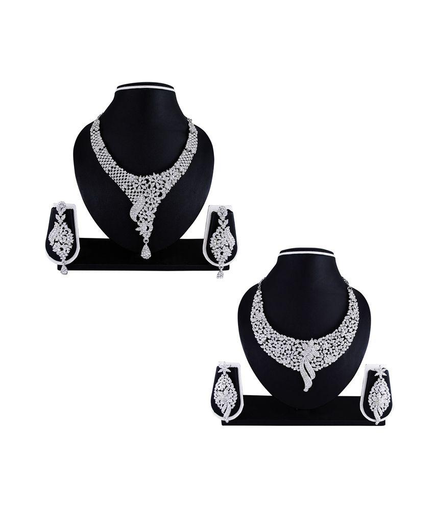 Atasi International Alloy Multicolor Austrian Diamonds Neck...