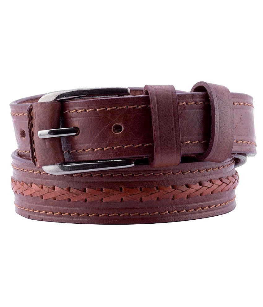 Coconut Brown Leather Pin Buckle Casual Belts