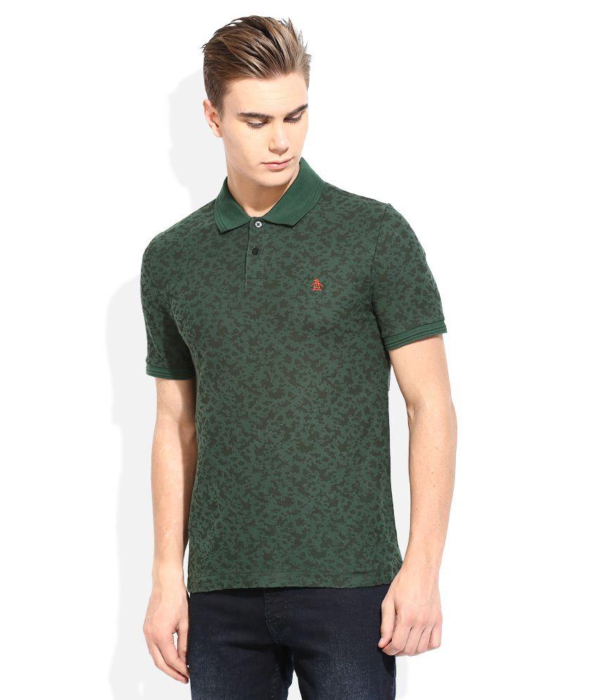 Original penguin green printed polo t shirt buy original for Polo t shirt printing