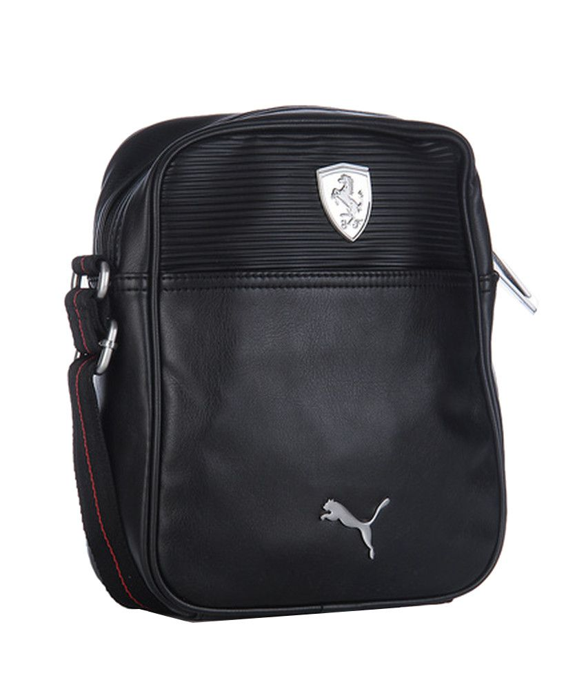 4572053fadc Puma Ferrari 7349201 Black Sling Bag - Buy Puma Ferrari 7349201 Black Sling  Bag Online at Low Price - Snapdeal