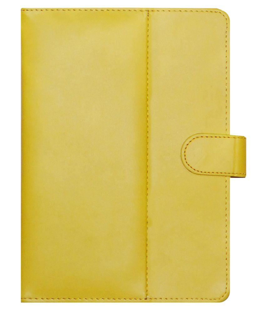 ACM Flip Cover for Swipe Halo Value 7 - Yellow