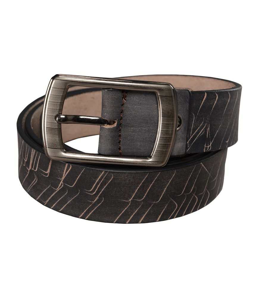 Leather Junction Black Leather Pin Buckle Belts For Men