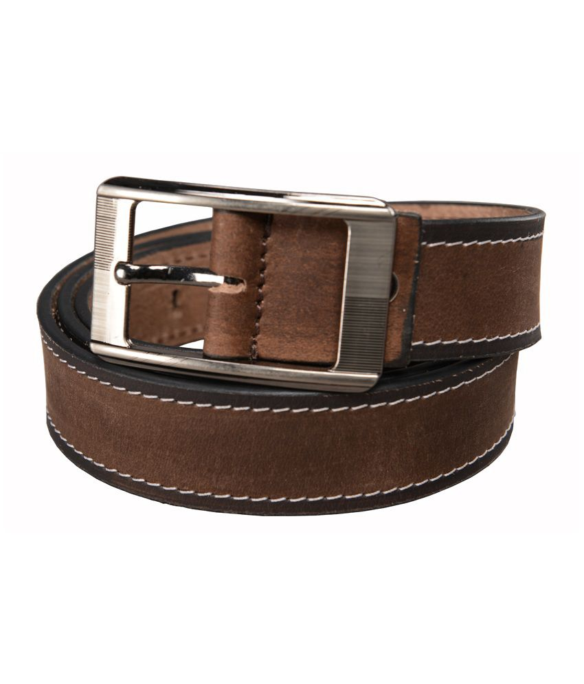 Leather Junction Brown Leather Pin Buckle Belts For Men