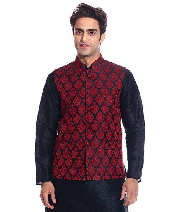 Tag 7 Black Semi-Formal Nehru Jacket