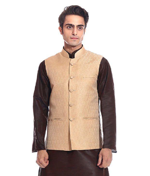 Tag 7 Gold Semi-Formal Nehru Jacket