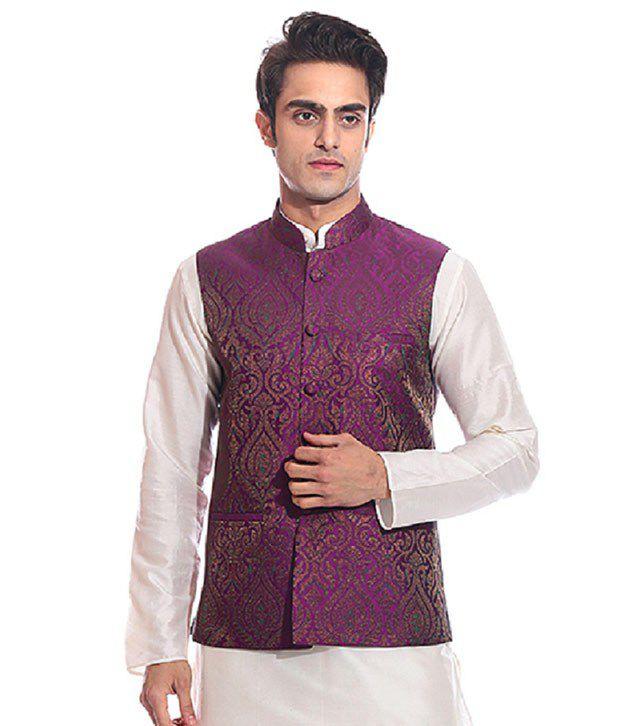 Tag 7 Purple Semi-Formal Nehru Jacket