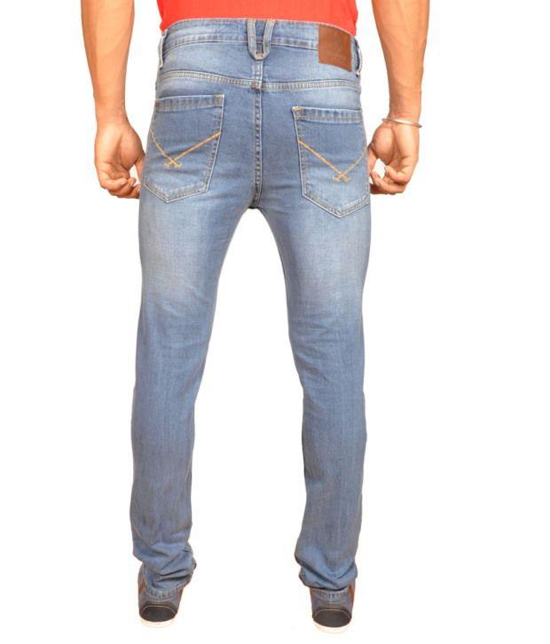 U.S. Polo Assn. Slim Fit Lycra Jeans Light Blue Color