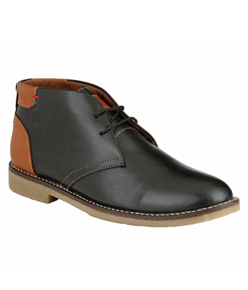 Brown Hawk Black Boots
