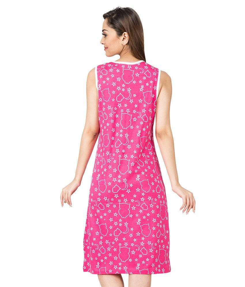 Nuteez Pink Cotton Tunics - Buy Nuteez Pink Cotton Tunics Online ...