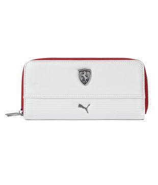 puma ferrari wallet white
