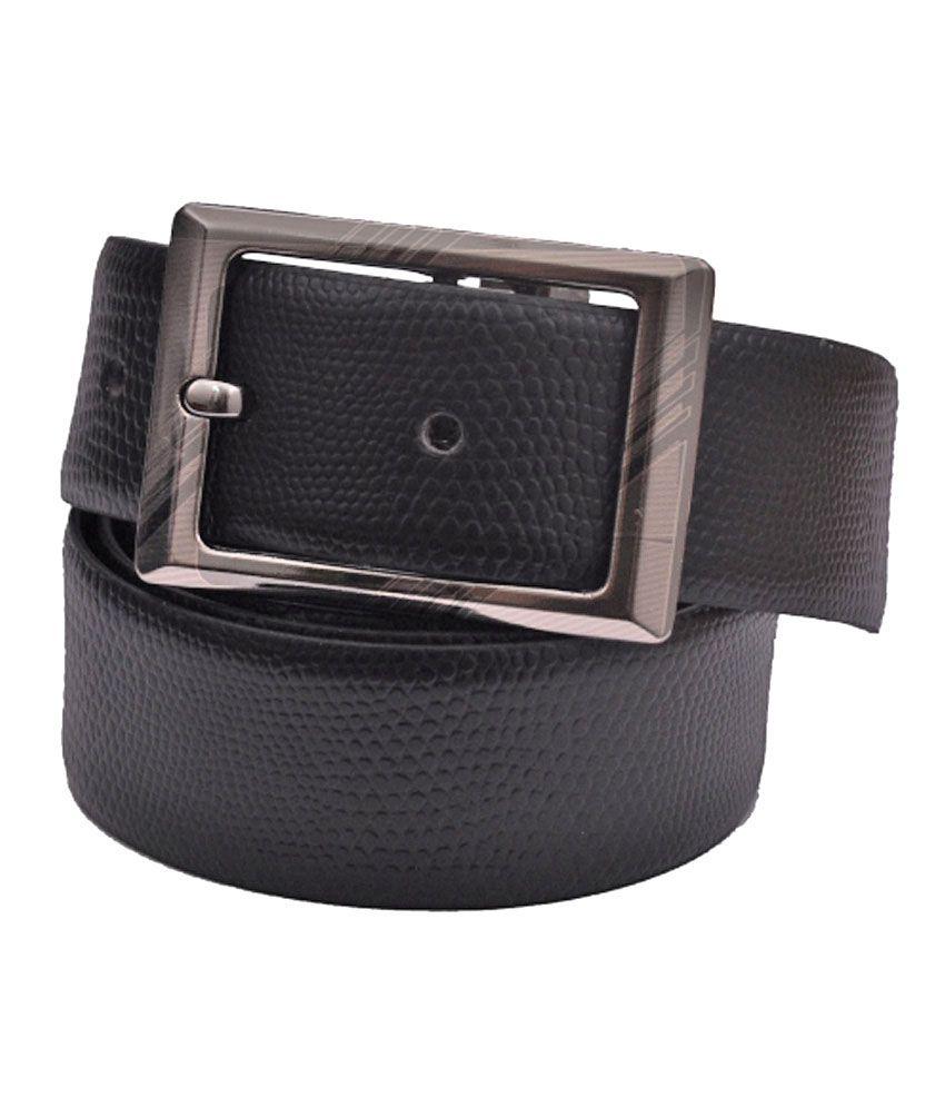 CowBoy Black Leather Belt: Buy Online at Low Price in ...