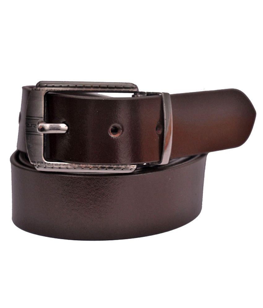 Cow Boy Brown Leather Belt