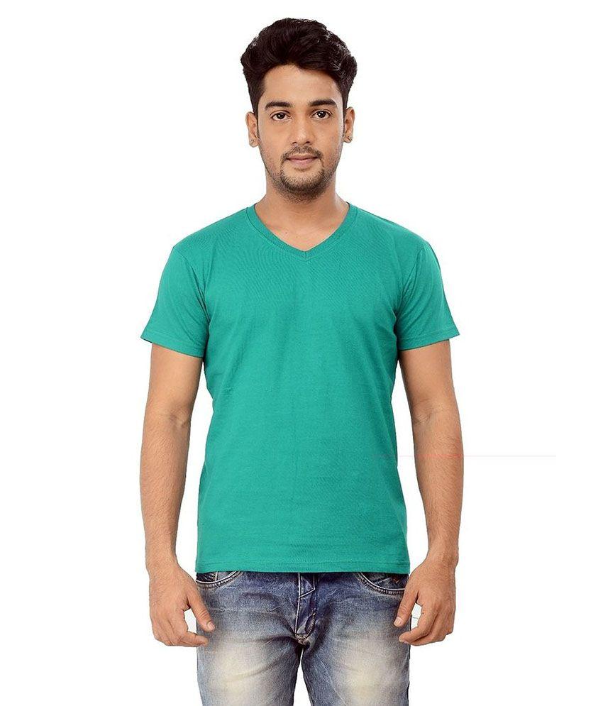 Purple Square Green Cotton T-Shirt