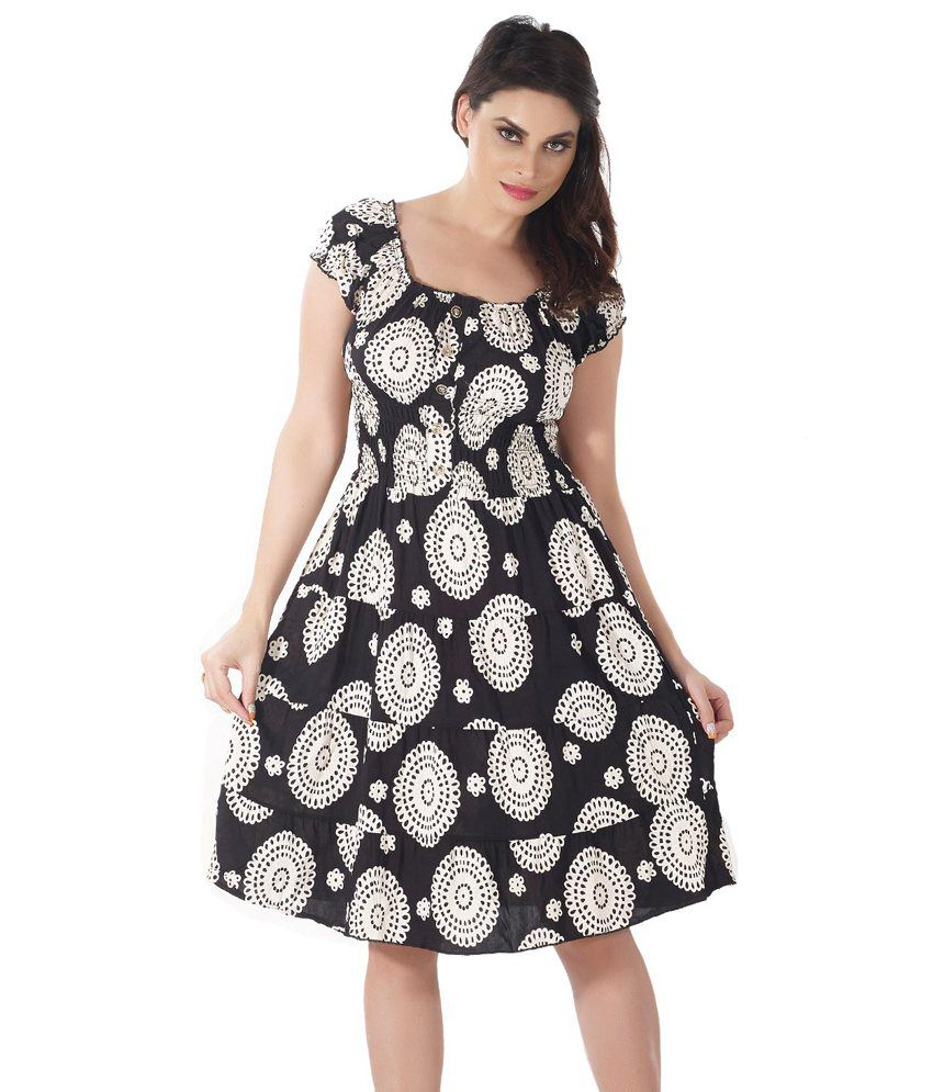 23b772619a49 Shyle Black Polyester Dresses - Buy Shyle Black Polyester Dresses Online at  Best Prices in India on Snapdeal