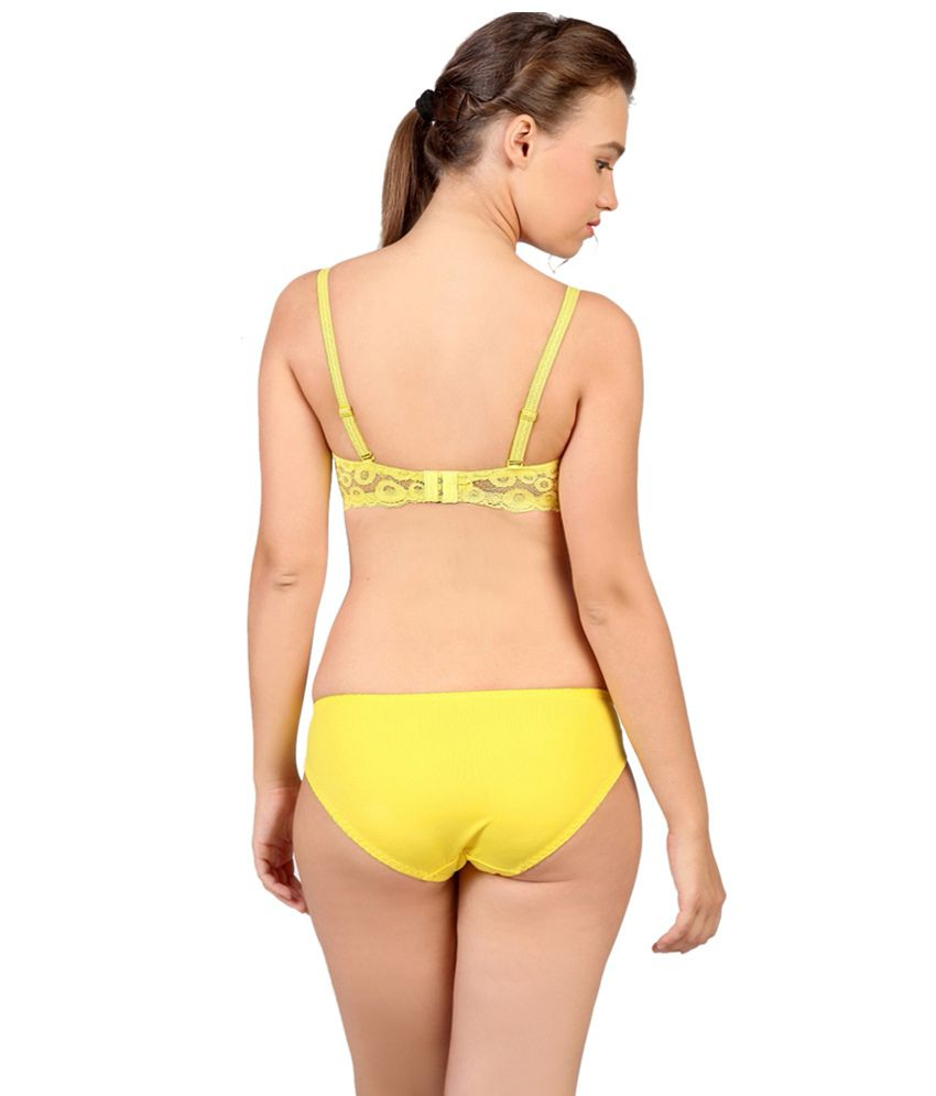 Buy De Soul Yellow Bra   Panty Sets Online at Best Prices in India ... 0934dd2b7