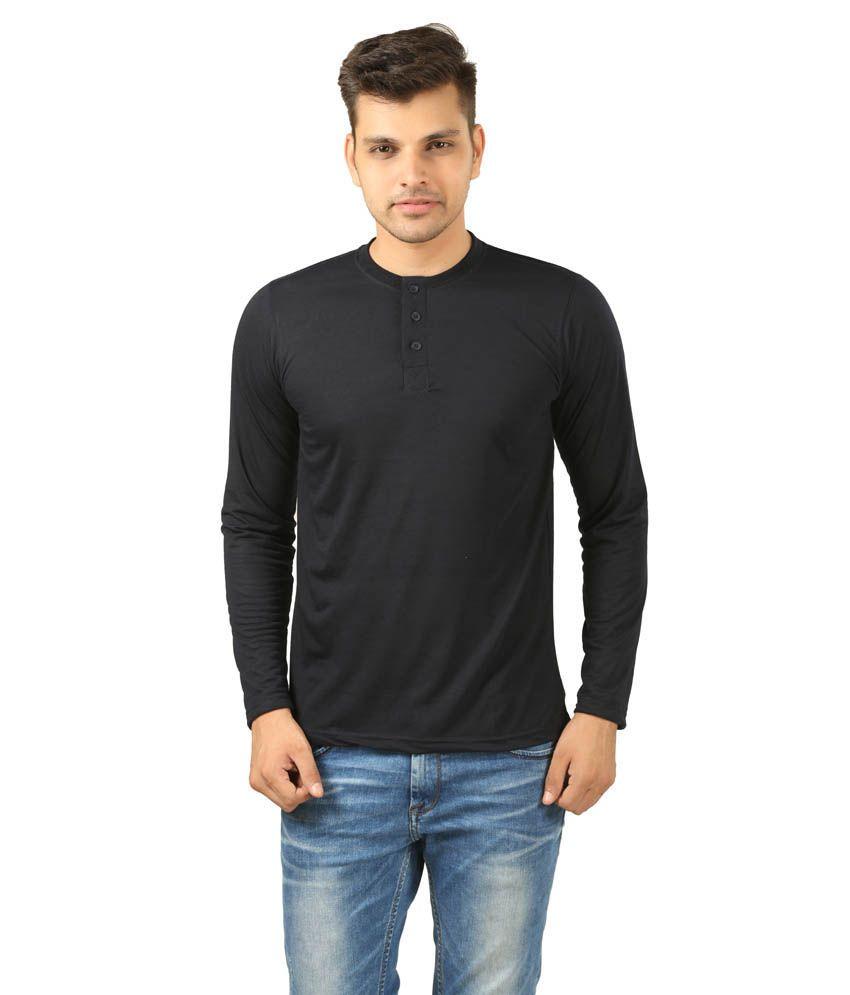 Etoffe Navy Cotton Blend T-Shirt