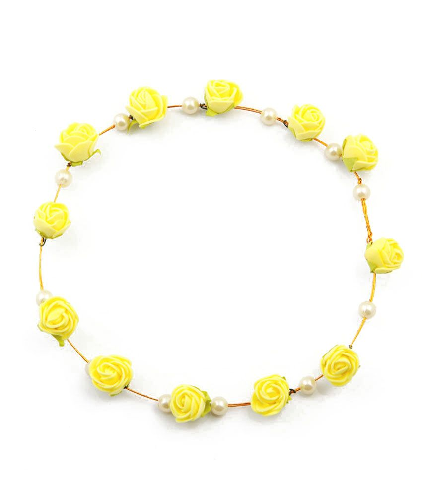 Sanjog Elegant Yellow Flower And Pearl Tiara Crown For Wedding Party  Buy  Online at Low Price in India - Snapdeal 1d7712bf53c