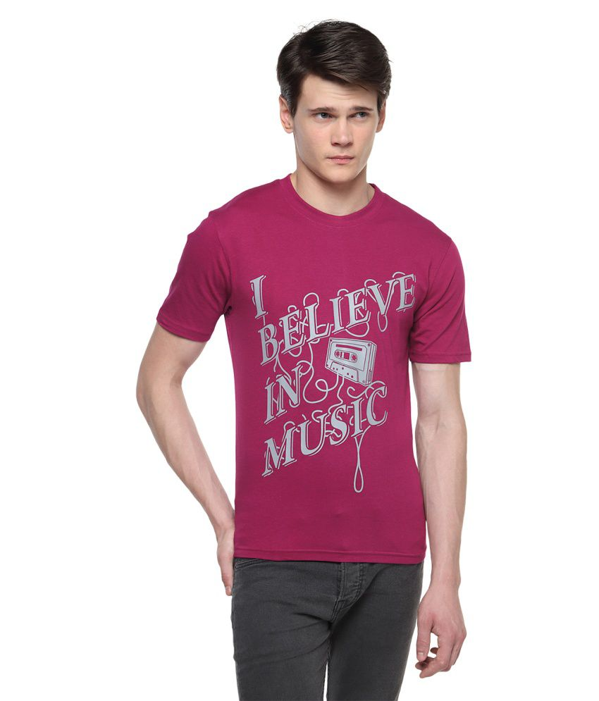 Topsy Pink Cotton Round Neck T-Shirt