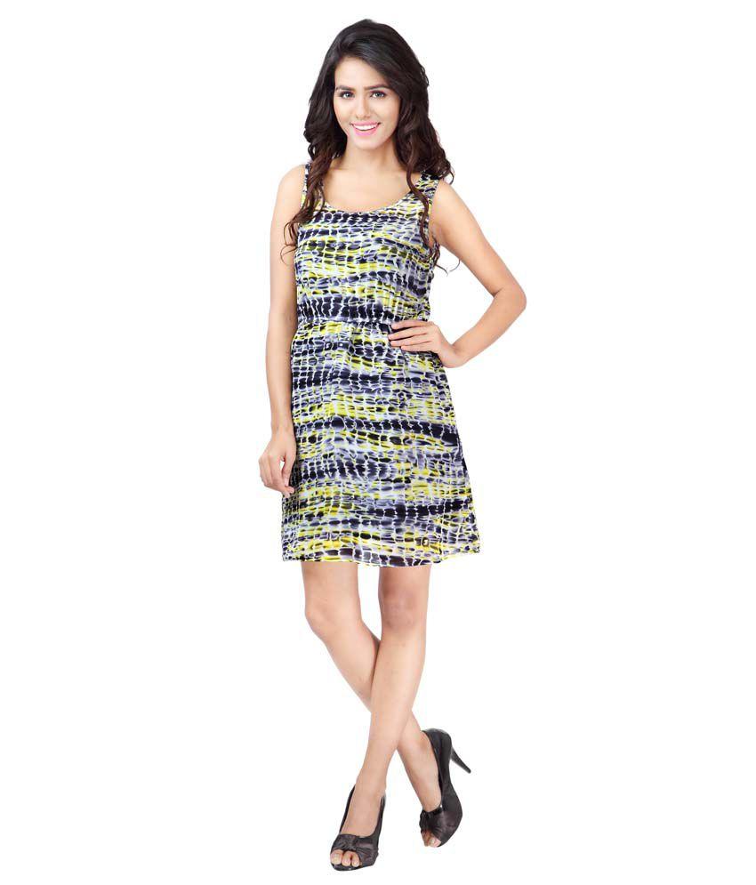 Urban Fashion Bank Viscose Multi Color Regular Dress