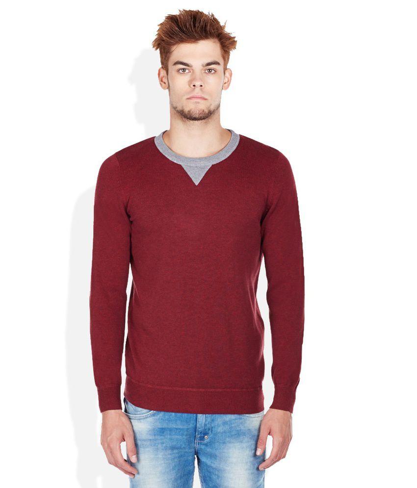 Celio RED Round Neck Sweater