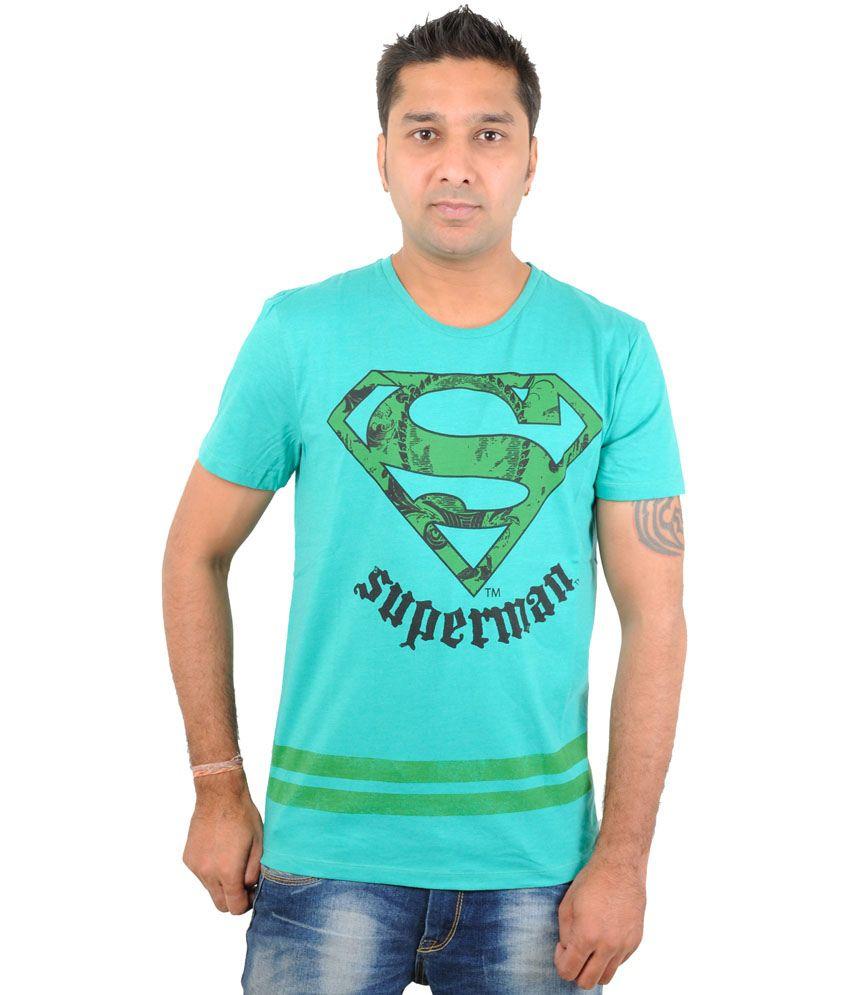 Free Authority Green Cotton Round Neck T-Shirt