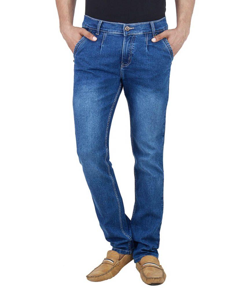 Axsglow Blue Cotton Jeans