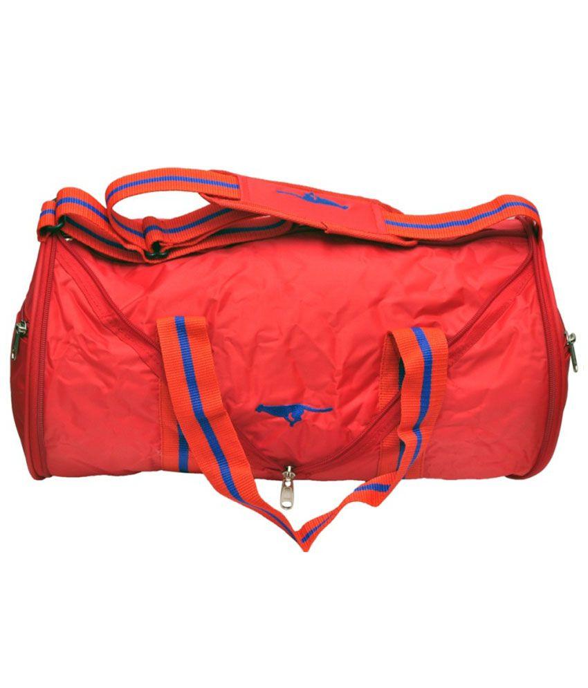 Gene Red Synthetic Gym Bag Gym gear