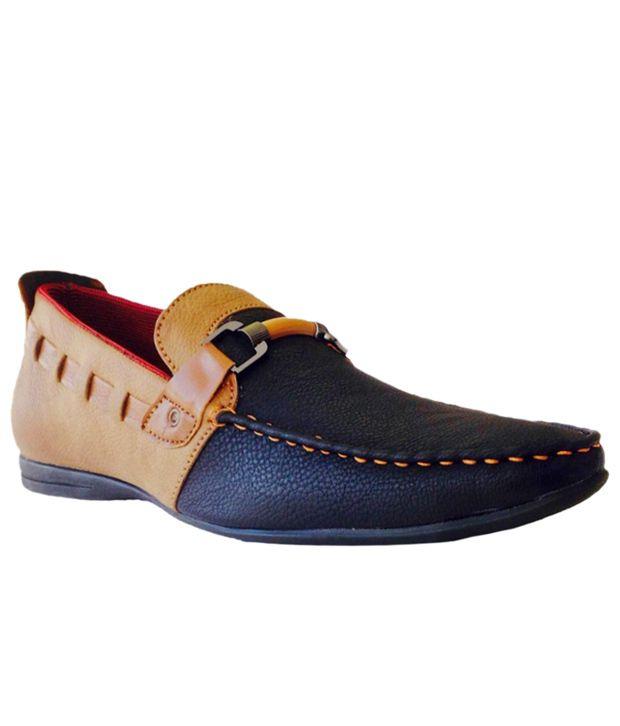Franco Black Loafers