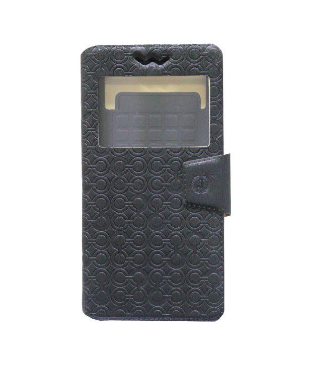 Jo Jo Flip Cover For iBall Andi4 B2 IPS Black
