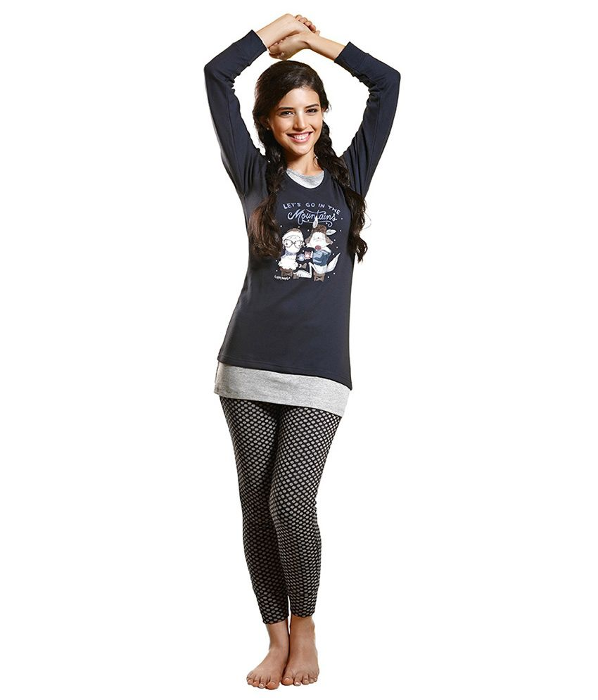 Coucou Teens Navy Cotton Nightsuit Sets