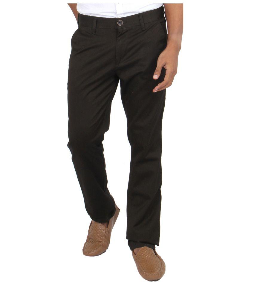 Killer Brown Regular Fit Formal Flat Trouser