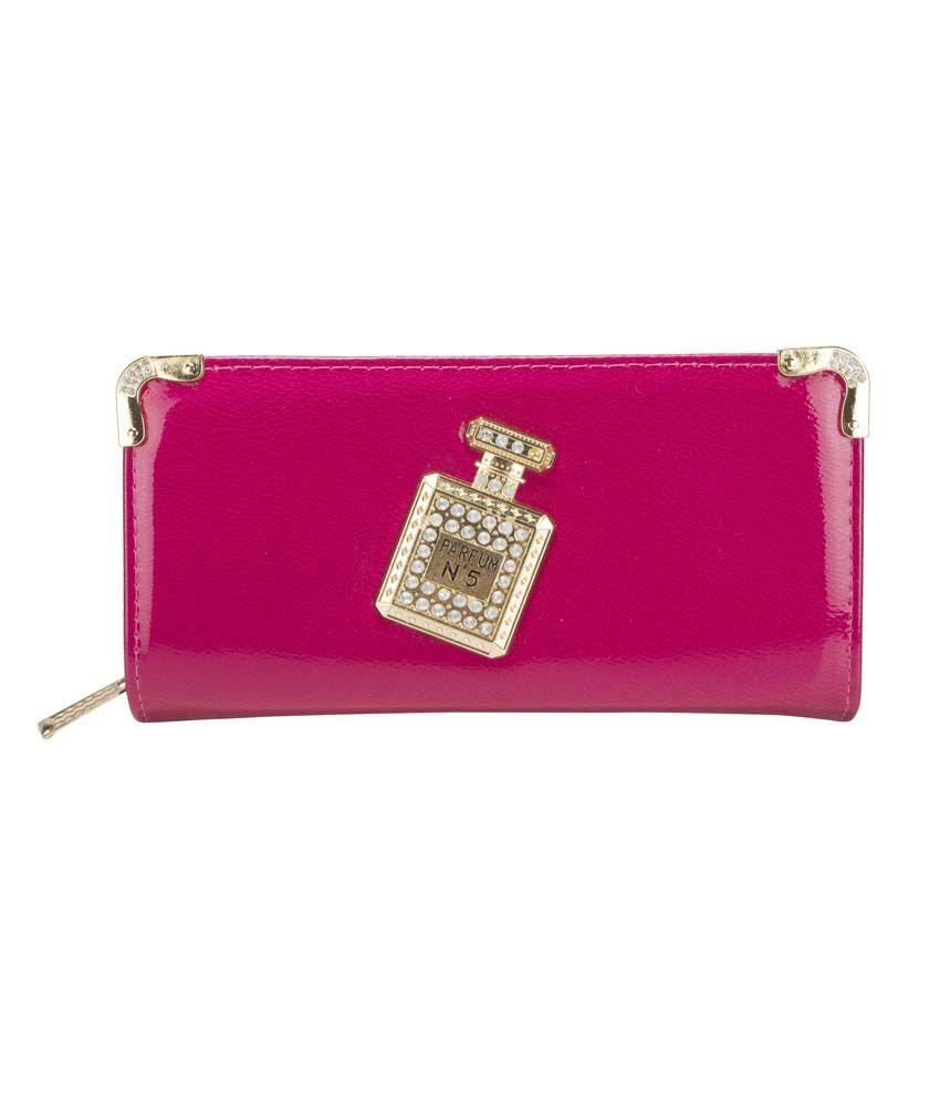Alonzo Pink Wallet For Women