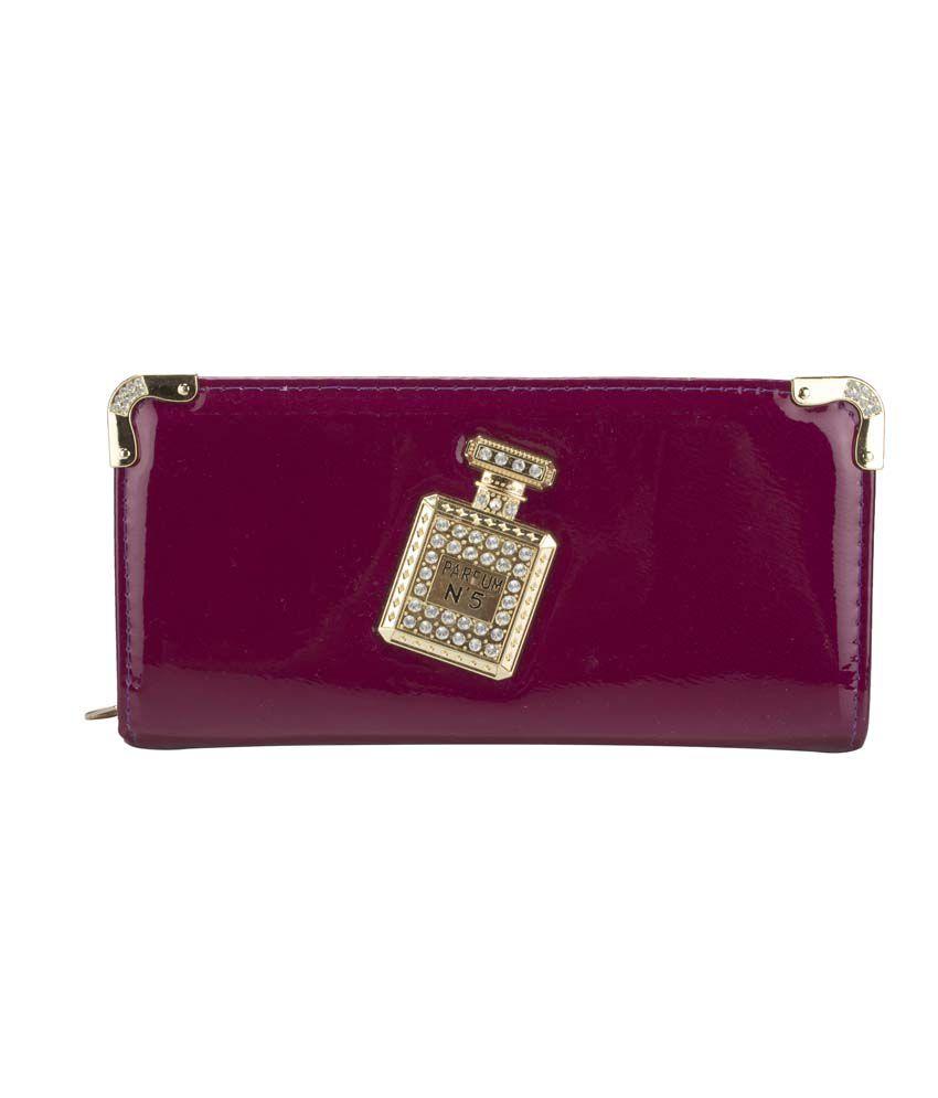 Alonzo Purple Wallet For Women