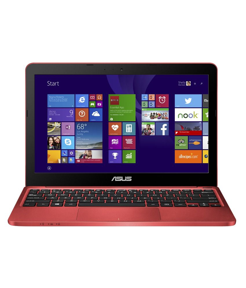 Asus X205TA-BING-FD024BS Netbook (90NL0734-M04080) (Intel Atom- 2GB RAM- 32GB eMMC- 29.46 cm (11.6)- Windows 8.1) (Red)