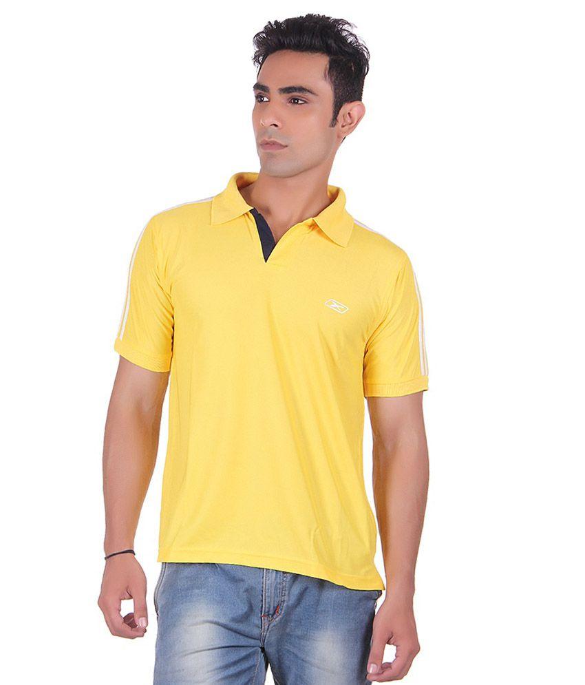 EX10 Gold Polyester Cricket T Shirt