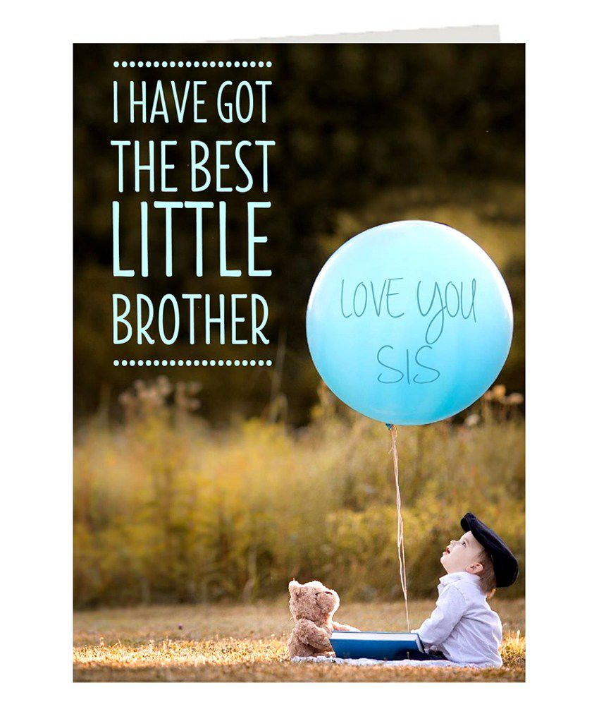 Giftsbymeeta Printed I Love U Sis Greeting Card Rakhi Greeting Card