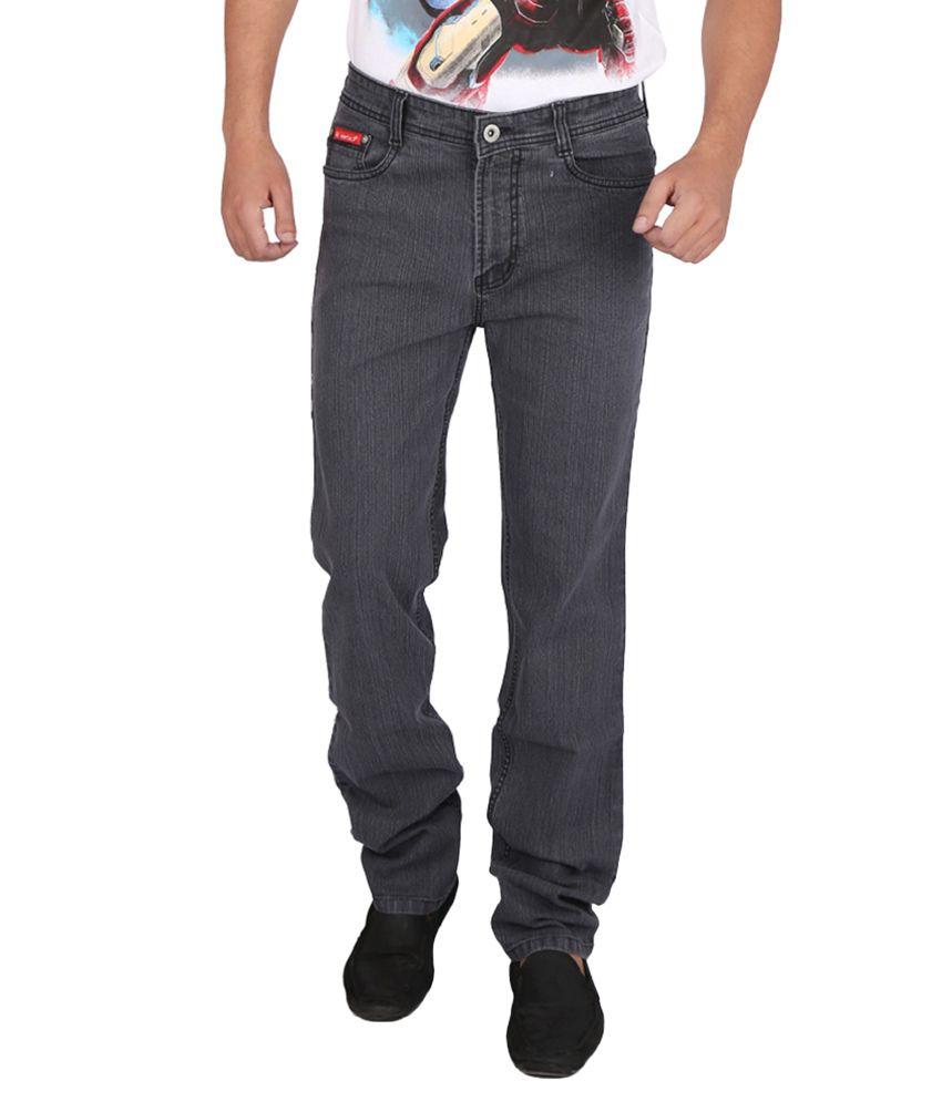 Appollo Black Cotton Jeans