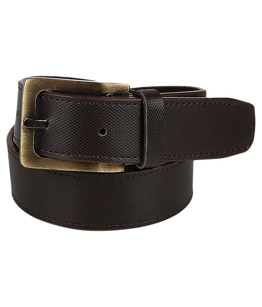 Stylla Brown Non Leather Casual Pin Buckle