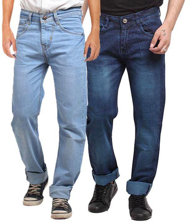 X-cross Multicolor Faded Regular Fit Jean - Pack Of 2