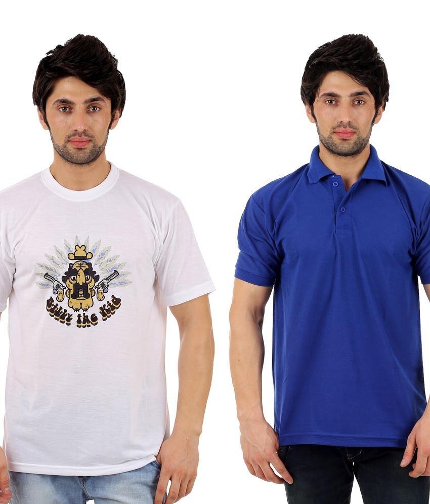 Atlanta Multicolor Cotton Blend T-Shirt