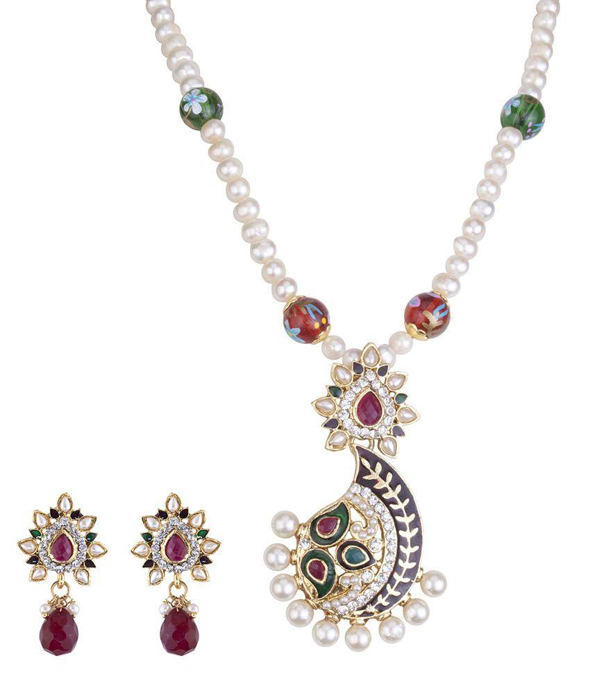 DDPearls 9k Rose Gold Necklace Set