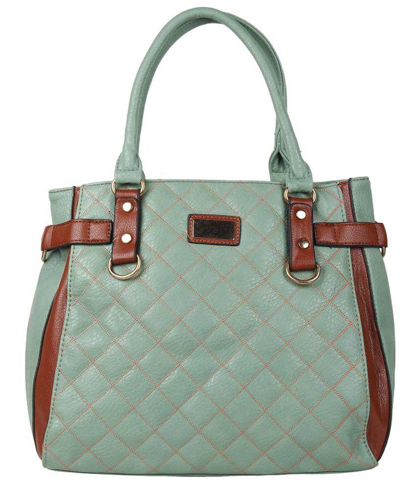 Re-Live Turquoise PU Shoulder Bag