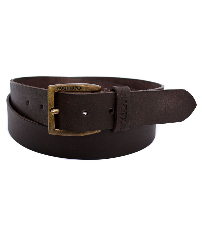 Woodland Brown Leather Casual Belts Buy Online At Low
