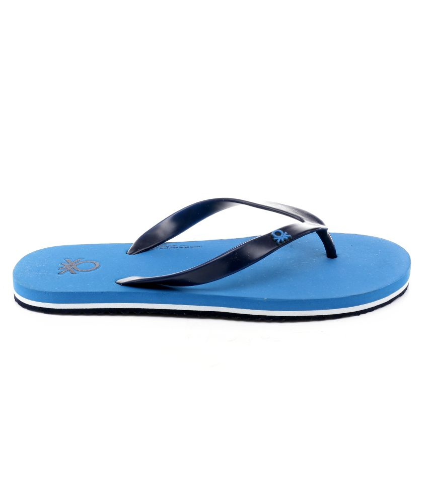 3dbcf6360 United Colors Of Benetton Blue Slippers United Colors Of Benetton Blue  Slippers ...
